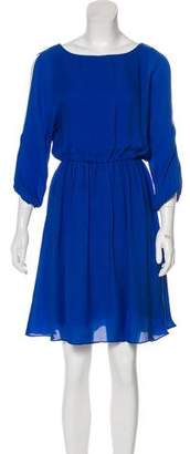 Alice + Olivia Silk Keyhole Dress