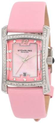 Stuhrling Original Women's 'Classique Collection' Swiss Quartz Stainless Steel and Leather Dress Watch
