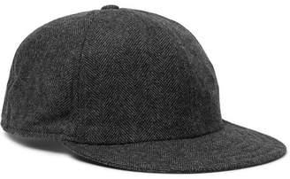 Borsalino Herringbone Virgin Wool-Blend Baseball Cap - Men - Dark gray
