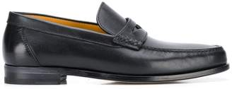 a. testoni embossed-detail loafers