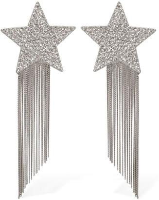 Saint Laurent Stars Crystal Clip-On Earrings