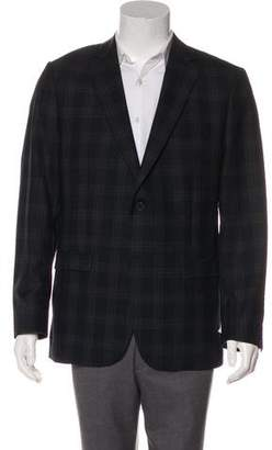 Simon Spurr Wool Plaid Blazer