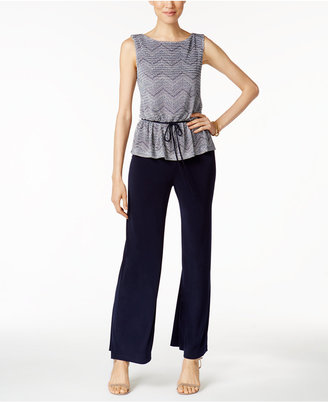 Connected Printed Peplum Jumpsuit $79 thestylecure.com