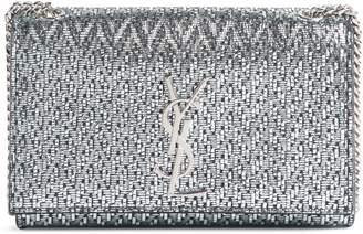 Saint Laurent Small Kate Metallic Leather Chain Crossbody Bag