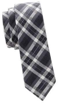 Valentino Slim Checkered Silk Tie