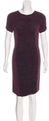 Burberry Ruched Sheath Dress