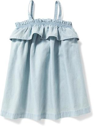 Chambray Ruffle-Trim Dress for Baby $19.94 thestylecure.com