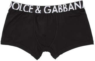 Dolce & Gabbana Black Big Logo Regular Boxer Briefs