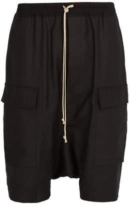 Rick Owens Dropped-crotch cotton-blend shorts