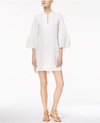Marella Cotton Stretch Poplin Bell-Sleeve Caftan Dress