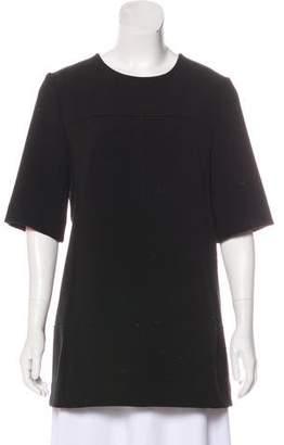 Lela Rose Crew Neck Short Sleeve Tunic