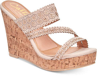Callisto Sofiya Platform Wedge Sandals Women's Shoes