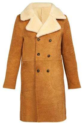Officine Generale Arnie Shearling Coat - Mens - Camel