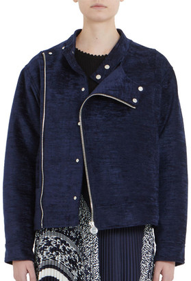 Carven Crushed Velvet Moto Jacket