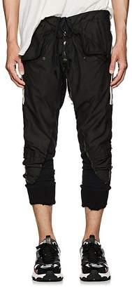 Greg Lauren Men's Cotton-Blend Canvas & Terry Slim Lounge Pants