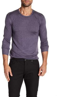 John Varvatos Collection Long Sleeve Silk & Cashmere Crew Neck Tee