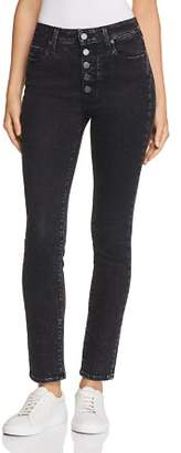 Paige Hoxton Ankle Peg Skinny Jeans in City Noir