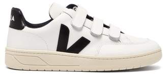Veja V 12 Bastille Low Top Leather Trainers - Womens - White Black