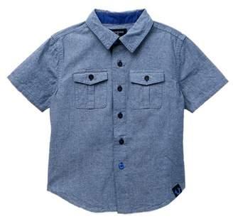 True Religion 02 American Woven Short Sleeve Denim Shirt (Toddler & Little Boys)