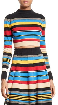 Women's Tracy Reese Stripe Crop Top $198 thestylecure.com