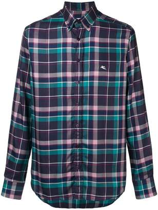 Etro plaid button down shirt