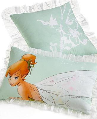 Tinkerbell CLOSEOUT! Disney Tink Watercolor Decorative Pillow Set