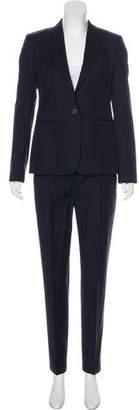 Massimo Dutti Striped Notch-Lapel Pantsuit