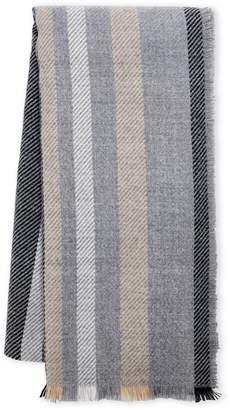 Fraas Stripe Frayed Wrap