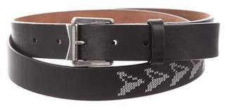 Lanvin Embroidered Leather Belt