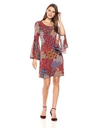 MSK Women's Scoop Neck Bell Sleeve Dress