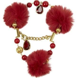 Dolce & Gabbana Gold Fur Bracelets