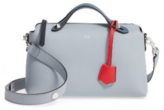 Fendi 'Small By The Way' Colorblock Leather Shoulder Bag - Beige $2,000 thestylecure.com