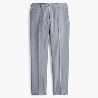 J.Crew Ludlow Slim-fit unstructured suit pant in cotton-linen