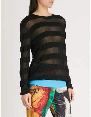 Vionnet Striped knitted top