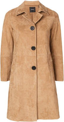 Theory single-breasted coat