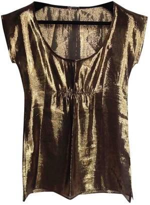 Loeffler Randall Gold Silk Top for Women