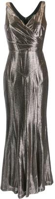 Lauren Ralph Lauren metallic evening gown