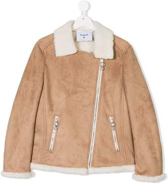 Dondup Kids TEEN faux shearling lined jacket