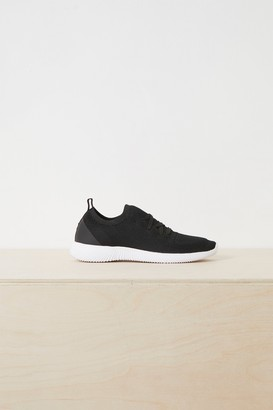 French Connenction Nelly Knitted Lace Up Trainers