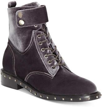 Vince Camuto Talorini Lace-Up Combat Booties Women's Shoes