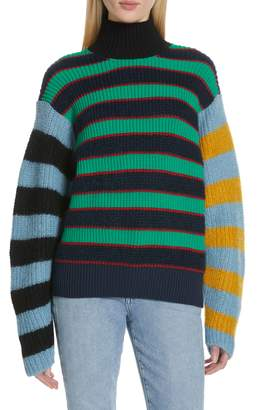 Kenzo Colorblock Stripe Mohair & Wool Blend Sweater