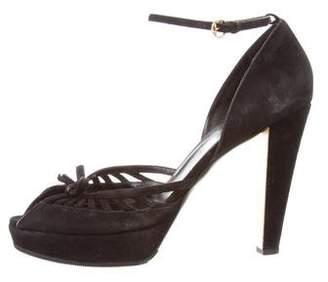 Gucci Ankle Strap Platform Sandals