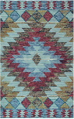 nuLoom Jerrod Ikat Hand Tufted Wool Southwestern Rug