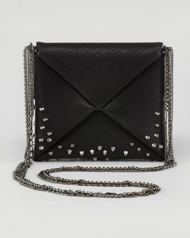 VBH Origami Studded Square Crossbody Bag