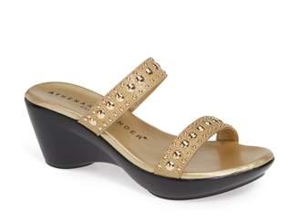 Athena Alexander Beguine Stud Embellished Slide Sandal