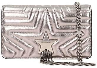 Stella McCartney Star Metallic Silver Faux-leather Shoulder Bag