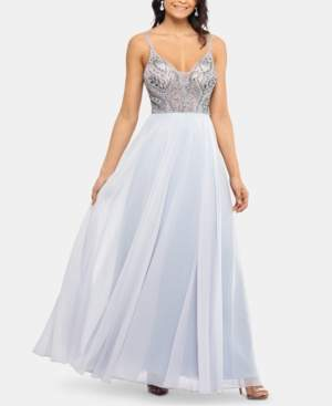 Xscape Evenings Beaded-Bodice Gown