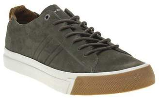 Tommy Hilfiger New Mens Green Khaki Dino Nubuck Trainers Retro Lace Up