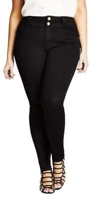 City Chic Plus Asha Skinny Jeans