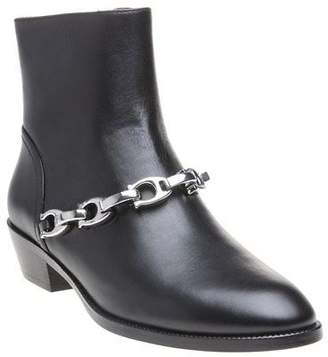 Coach New Womens Black Allen Leather Boots Ankle Zip